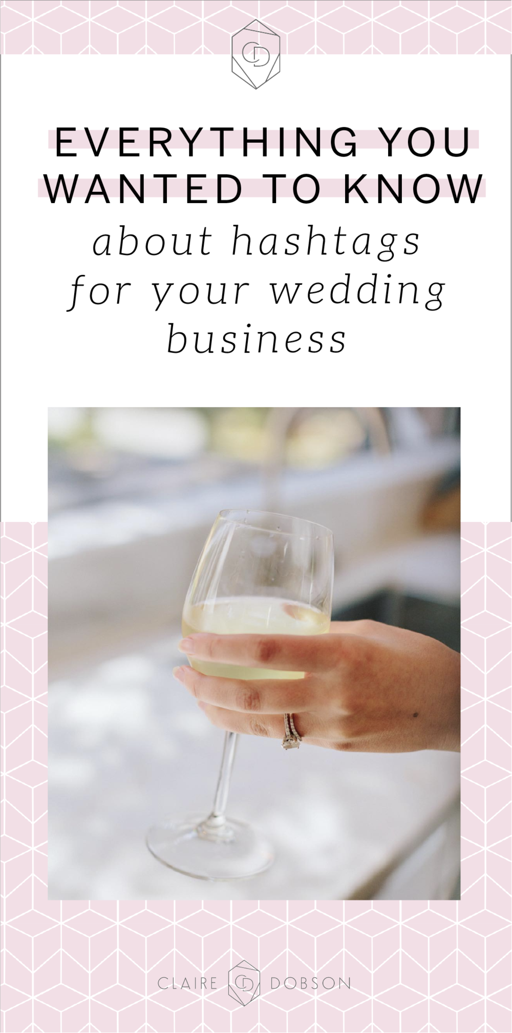 Download 500 free hashtags for your wedding or creative business.  Creating amazing content is obviously the best way to promote your business online. However, getting it seen can be a little tricky and is also the point. But how do you not only get your content seen with new eyes, but in front of the right ones? The ones who want your services and want to pay your prices?