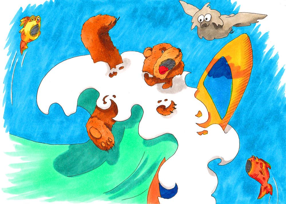 Bear_Owl_surfing