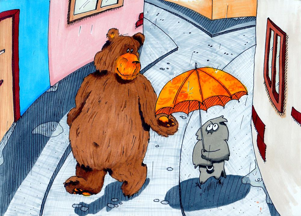 Bear_Owl_Vancouver_Rain