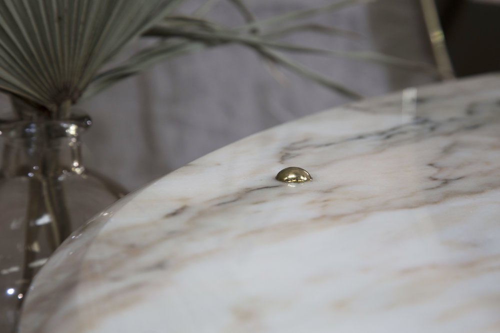 Lind + Almond, Oval Marble Table, Detail .JPG