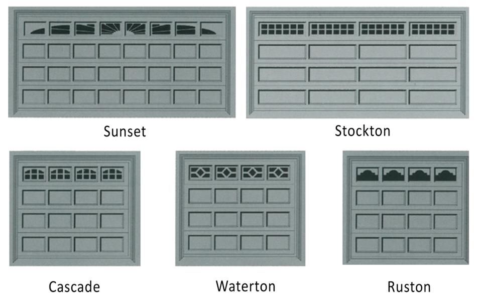 Sectional Door Window Styles