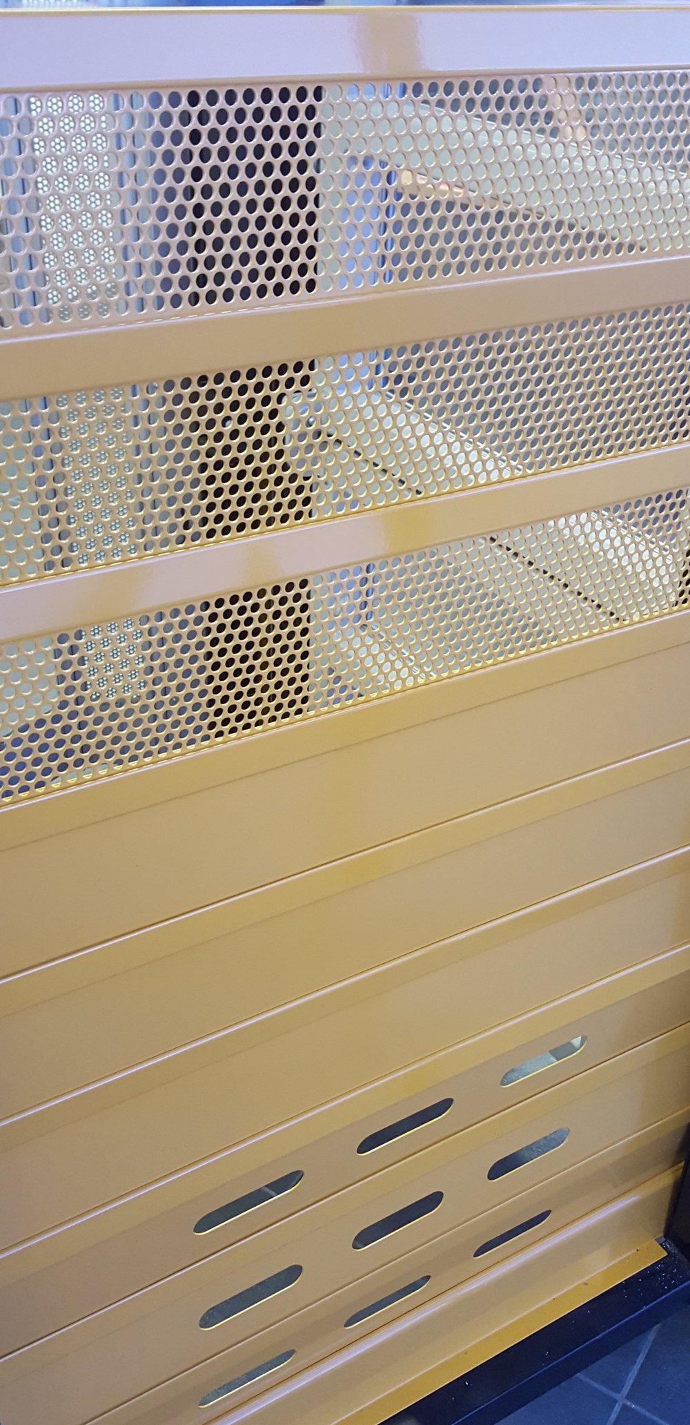 Different steel roller shutter slats