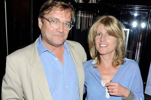 """In this age of surveillance the first surveiller may be your conjugal partner"": Ivo Dawnay with wife and writer Rachel Johnson"