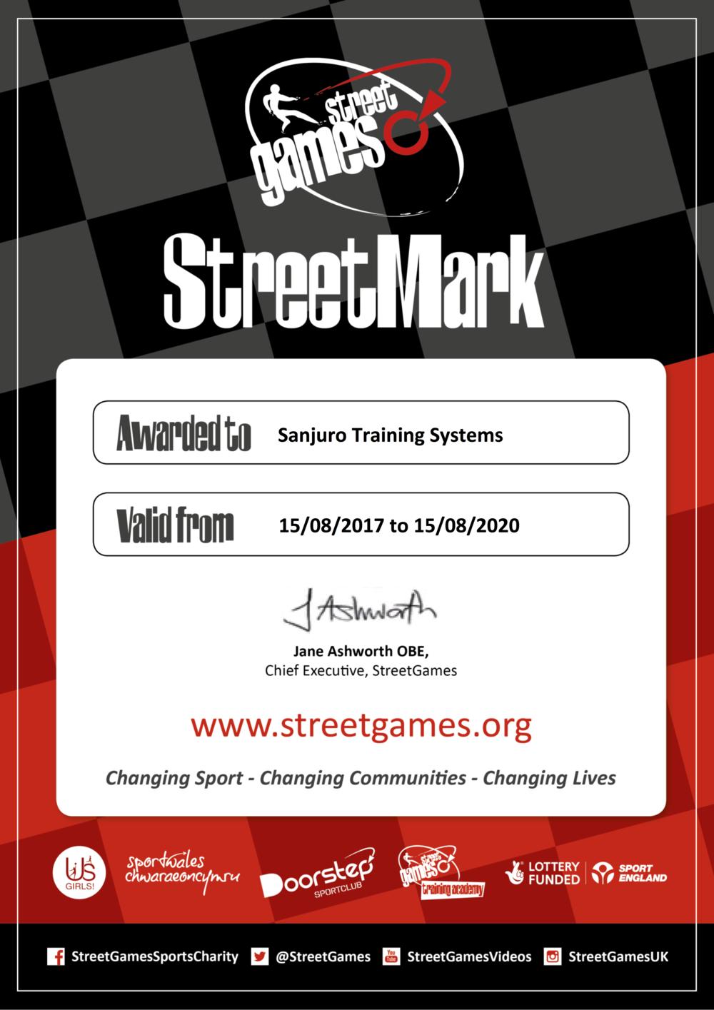 Sanjuro Training - Street Mark to 2020M Cert.png