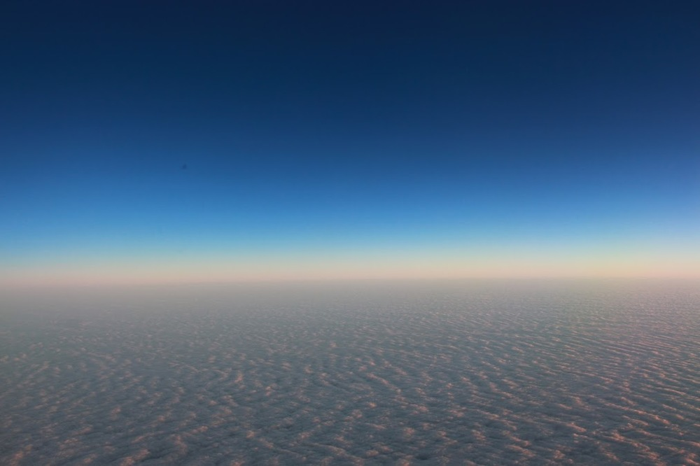 above the clouds, the sky always seems clear, have you noticed?