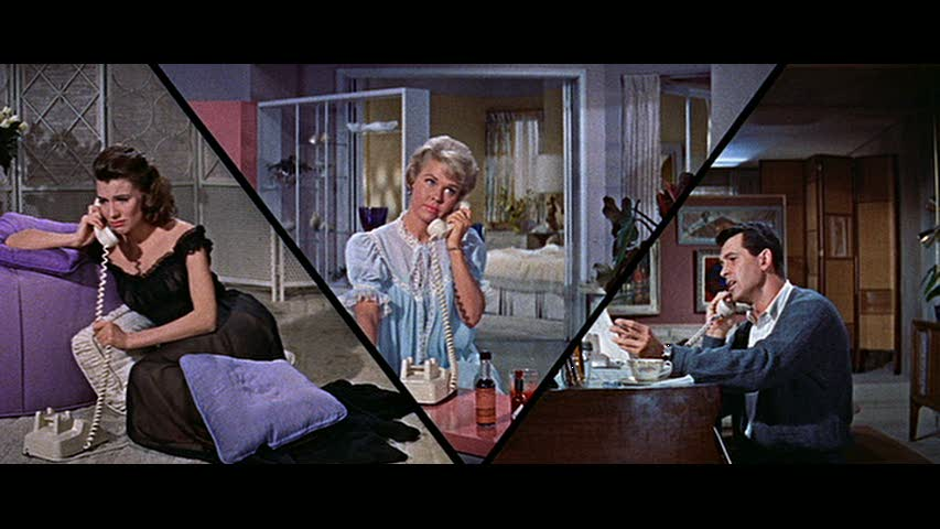 The director of the 1959 comedy Pillow Talk loved the split screen technique. Is this why he chose a script about a party line, perhaps?