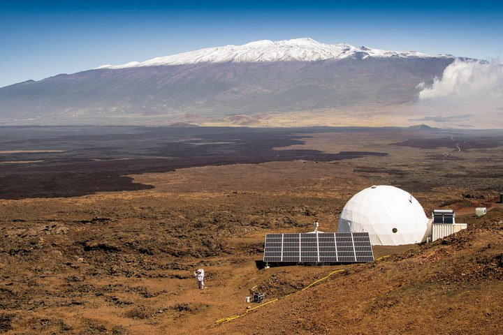 NASA's 36-foot Bio-Dome on the dormant volcano of Mauna Loa in Hawaii.