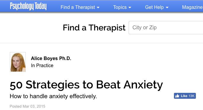 Et tu, Psychology Today?