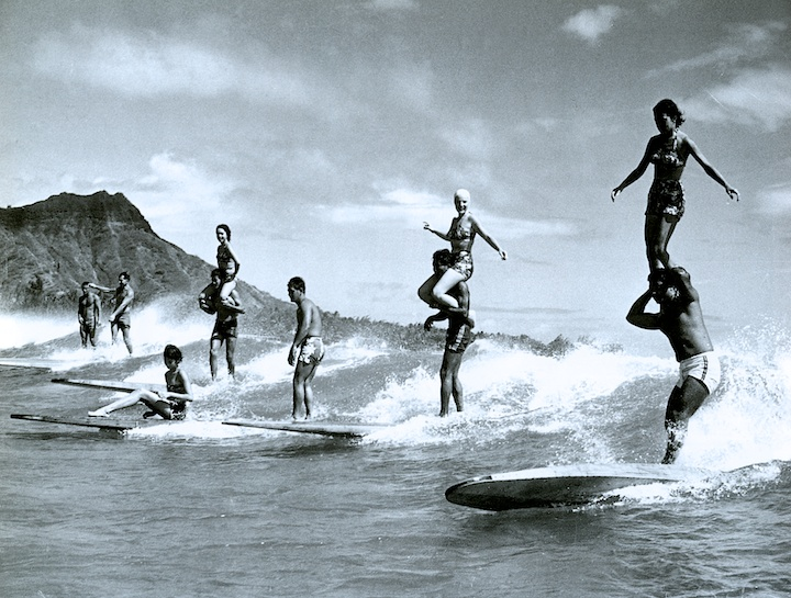Tandem surfing was actually a thing in the 60s.