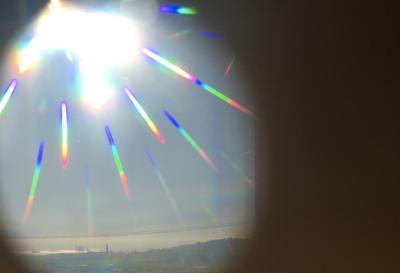 Rainbow monocle.