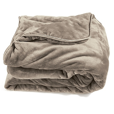 "The  Brookstone Weighted Blanket  was one of the original blankets more widely sold to the general public, opening up the category for other brands to follow. It is not customized to a specific body type, and the description says, ""Suitable for anyone weighing 20 lb. and over."""