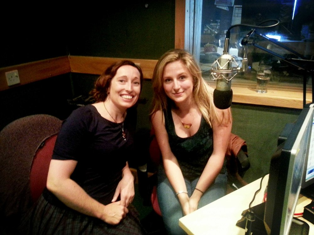 Elena and I being interviewed on Juice Radio