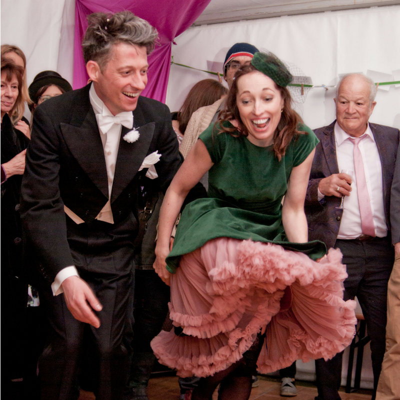 Tom and Fiona dancing at their wedding