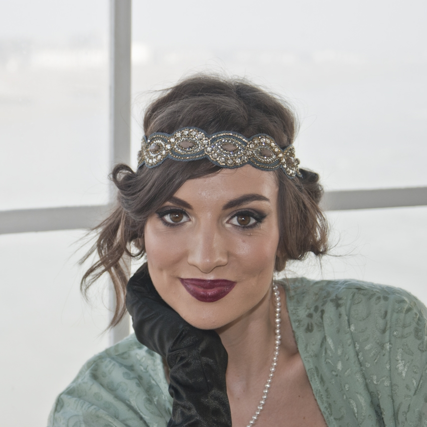 Amy, our Savoy Kicks member, with 1920s make-up look