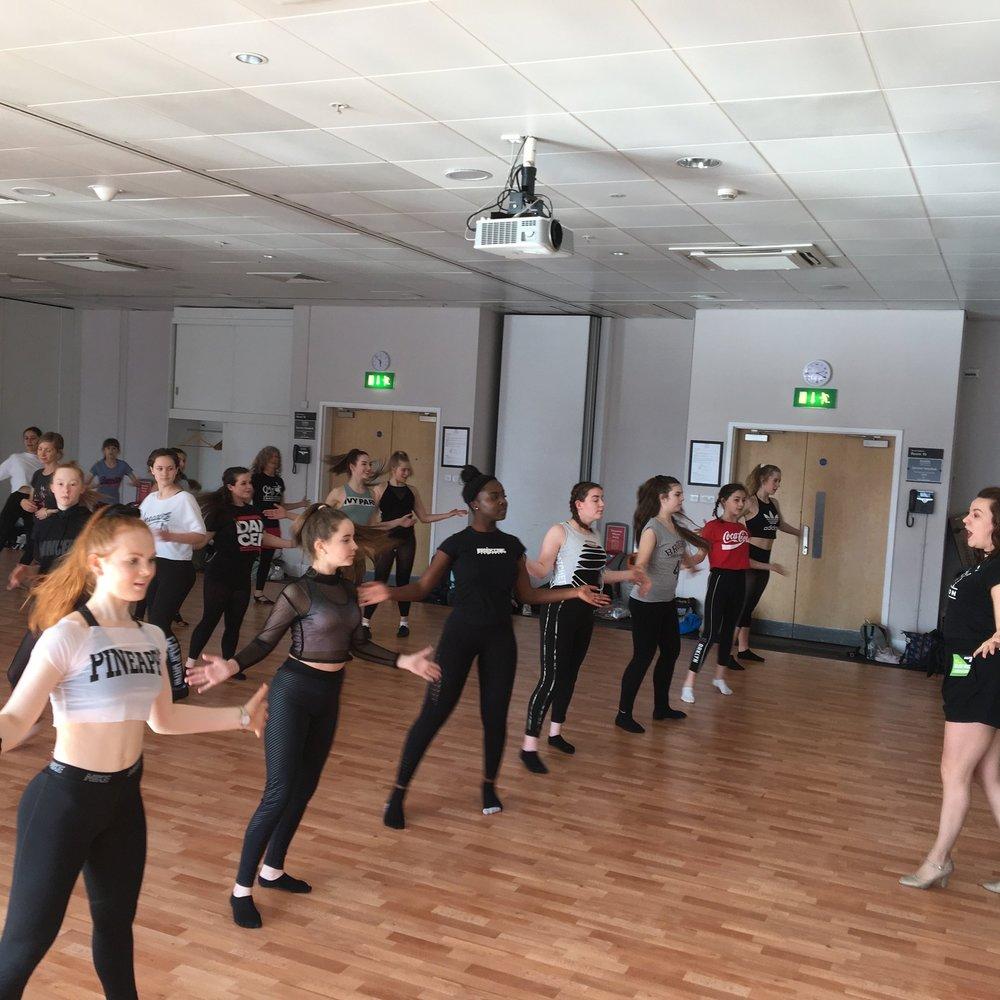 Rachel teaching at Move it 2019