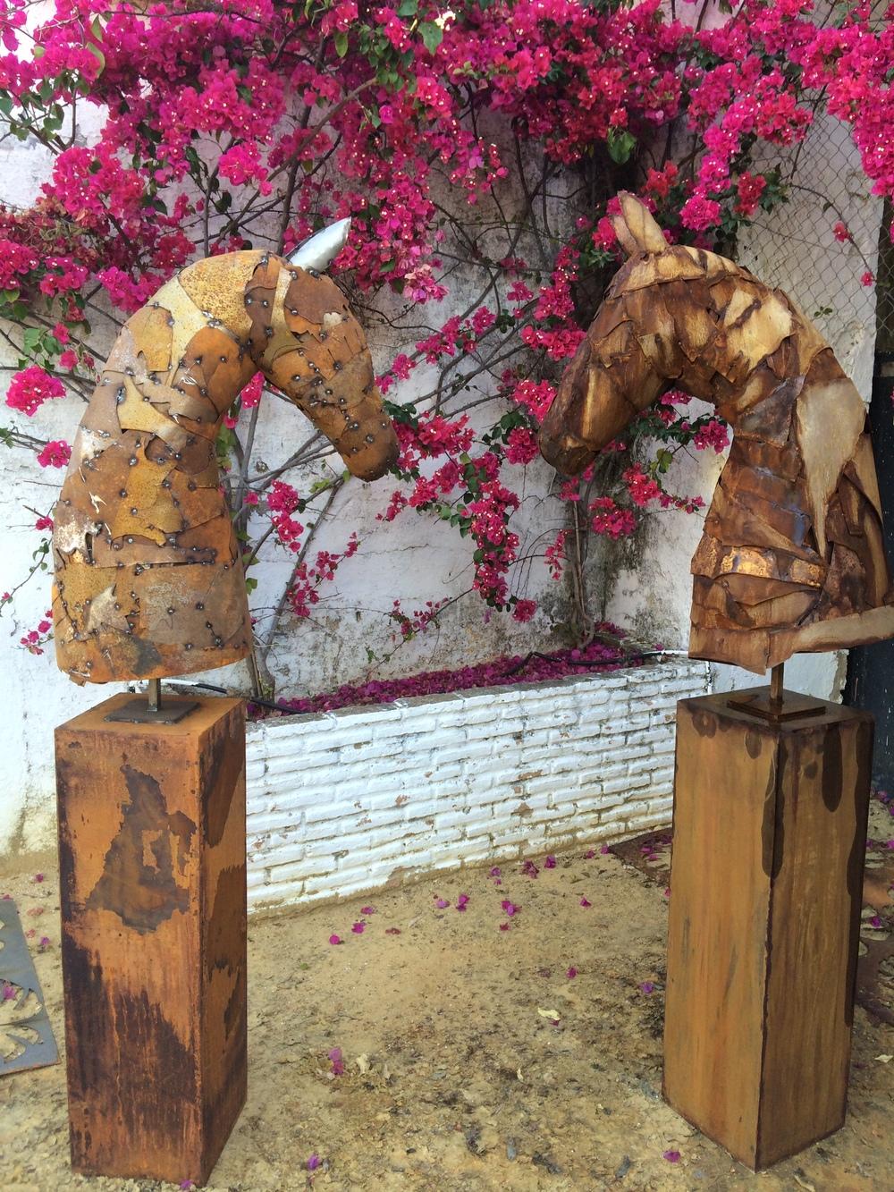 Escultura caballo