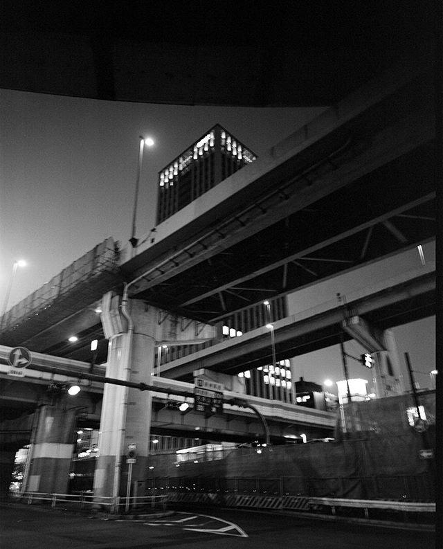 Maze of Bridges, Japan Outake, Osaka. 2016. #osaka #japan #mamiya #400tx #120 #mediumformat #shootfilm