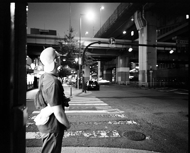 @grazrak on the strip, Osaka, Japan outtake. 2016. #osaka #japan #mamiya #blackandwhite #400tx #shootfilm