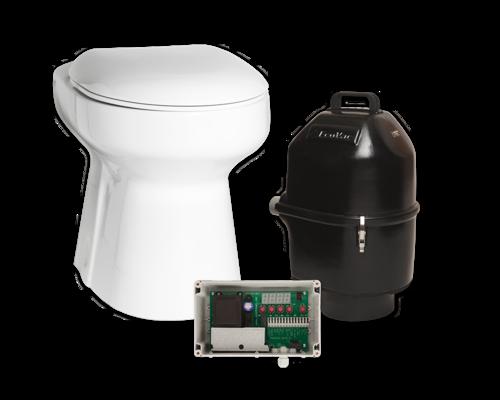 EcoVac™ - Extremt snålspolande vakuum-WC!Unik vakuumtoa som gör vattentoalett möjlig överallt. Till tankar eller biokammare. Sparar 90% vatten (0,6 L / spolning) Välj mellan standard WC eller sorterande WC.Från 19.225:-
