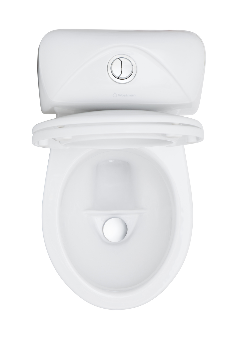 EcoFlushUrine Diverting Classic WC - A classic water flushing WC but with a urine bowl in the front. Being used for septic tanks, farming purposes, water saving purposes, hospitals and many more places. Also for eco-minded people in regular apartments and villas. Double-flush with 0,3 Liter small flush and 2,5 Liter big flush.