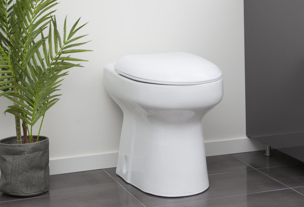 EcoVac - Vanlig WC-stol som drivs av vakuum! Sparar 90% vatten!