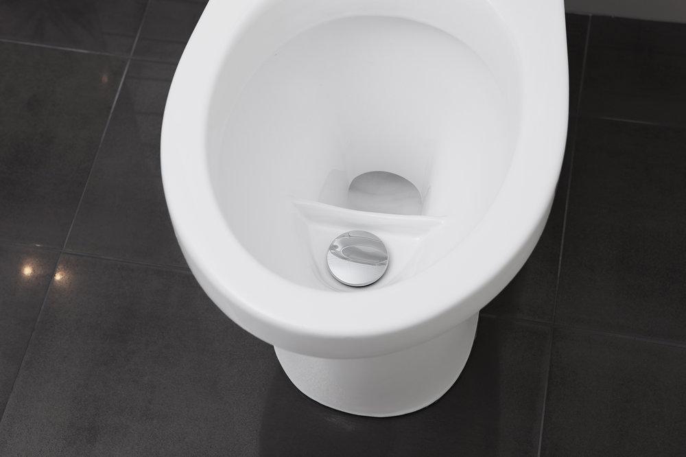 EcoFlush - Klassisk WC med urinsortering. Sparar 80% vatten!