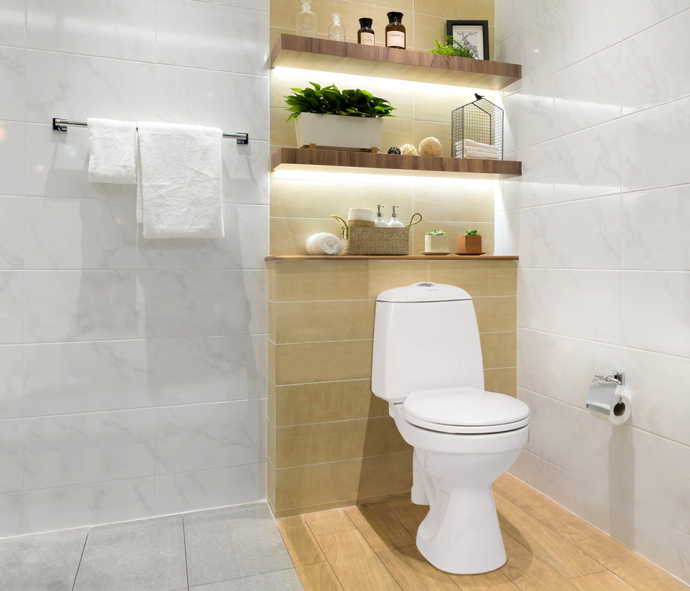 """A standard water toilet - which saves up to 90% water! - The extremely """"low-flushing WC"""