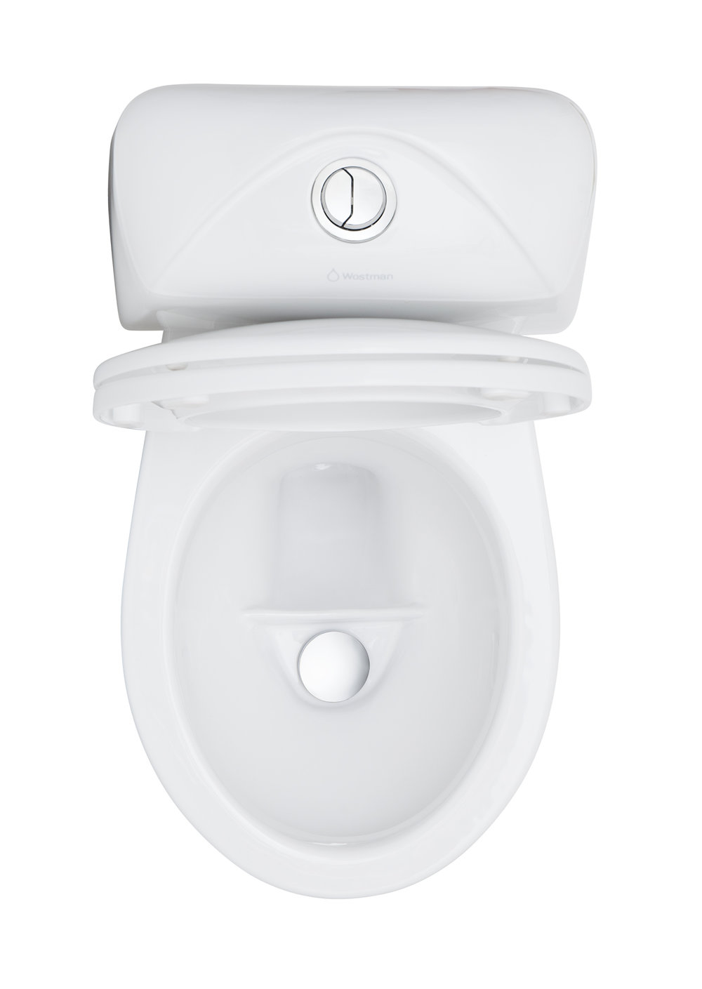 A smooth dual-flush experience. - Other dual-flush toilets can save some water, but a urine diverting one is the 10x choice for saving water and/or collecting the urine as a fertilizer.  The EcoFlush is carefully designed and redesigned for many years with the goal to make the ecological experience as smooth as the standard toilet one.In the front bowl, the urine smoothly pours down besides the chrome lid, and in the back it works similar to a regular toilet. See the video above for a better look.