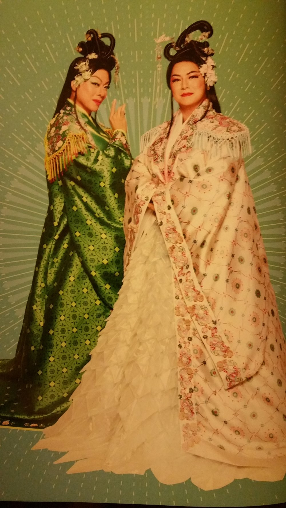 Madam White & Auntie Green (image from the Mama White Snake Programme Book)