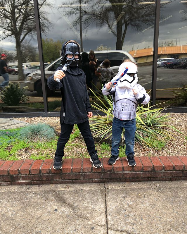 Took to the boys to @lynchburgpubliclibrary for Star Wars day this week, and I think they liked that more than any spring break trip we could have taken! #themotherhood #springbreak2018 #meadors2018 #thesacredeveryday