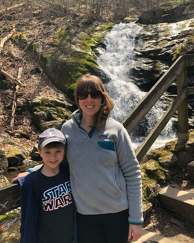 Spring Break Friday = family funday! Crabtree Falls, a picnic, Blue Toad Cidery and some mini golf (in stories). And two exhausted parents. #themotherhood #springbreak2018 #meadors2018 #thesacredeveryday