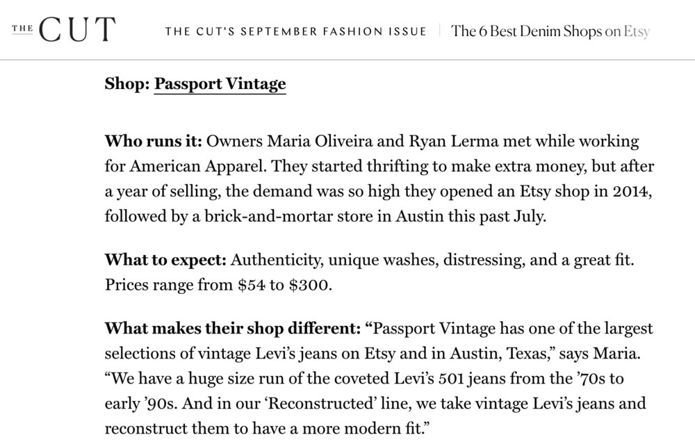 THE CUT ☞           The 6 Best Denim Shops on Etsy