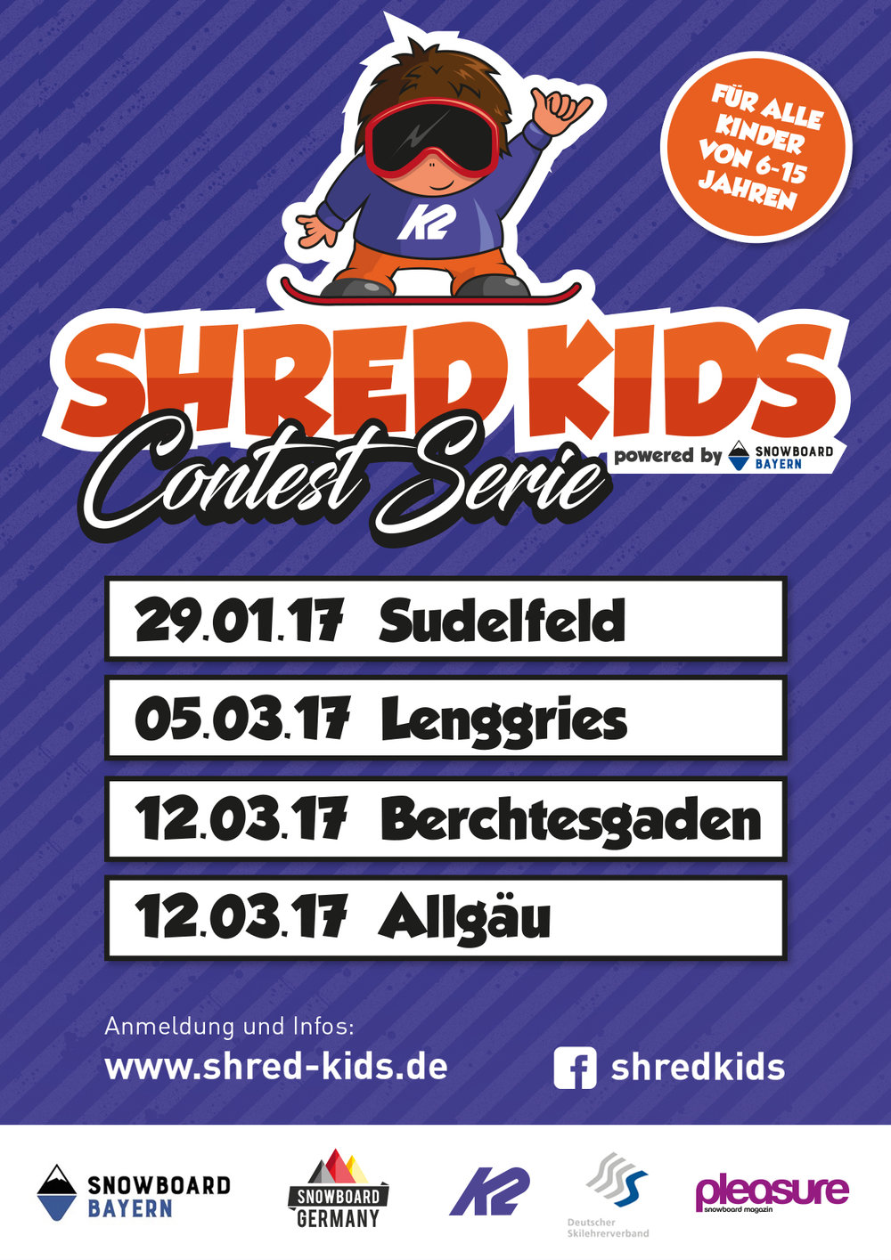 Shred Kids Snowboard Contests Bayern