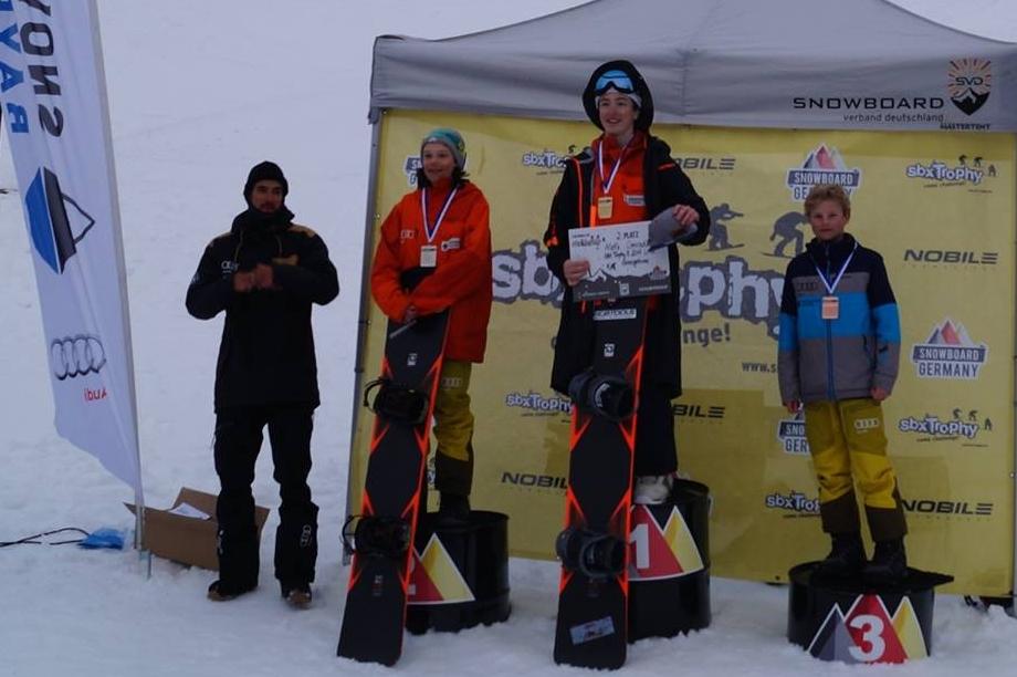 Bayerische Meister im Snowboardcross U15