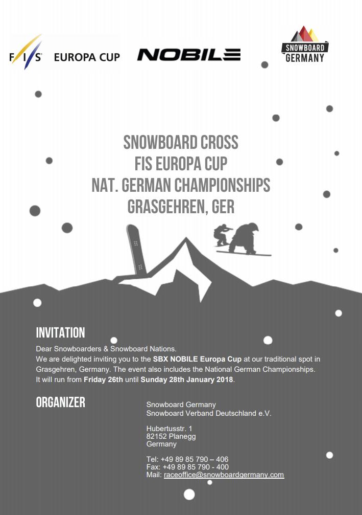Ausschreibung FIS SBX EC Grasgehren