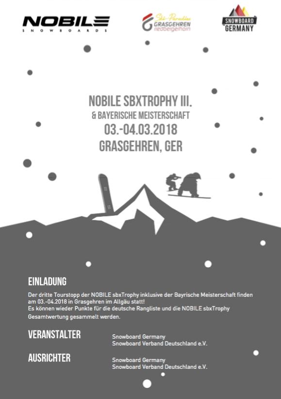 Bayerischen Meisterschaft Snowboardcross 2018 Grasgehren SBXtrophy
