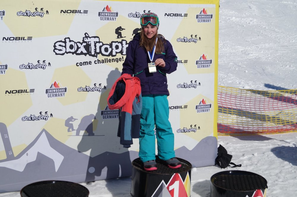 Bayerische Meisterin SBX U12 Girls: Rosalie Bauer (ShredKids Lenggries)