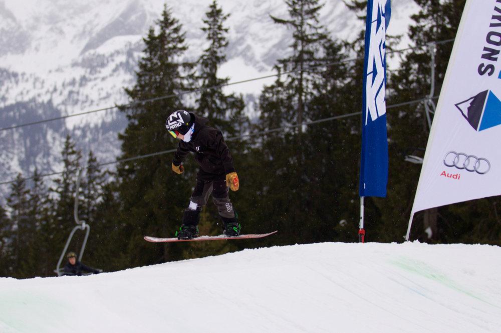 Mika Schweizer bei der Bayerischen Meisterschaft Slopestyle 2018