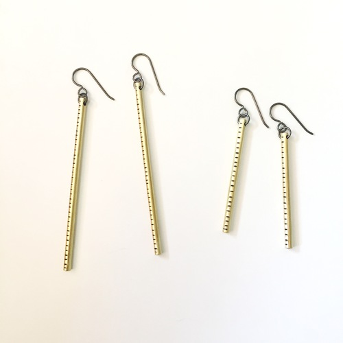 stick earrings line minimalist etsy rod sale market bar gold il