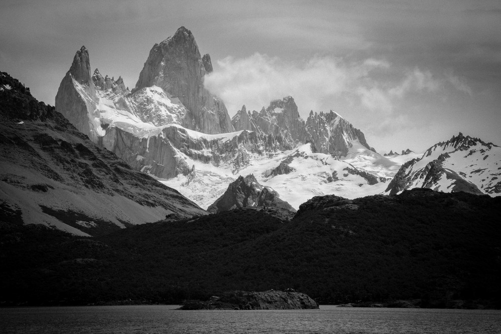 Still from a timelapseing the brewing storm over Fitz Roy, Patagonia