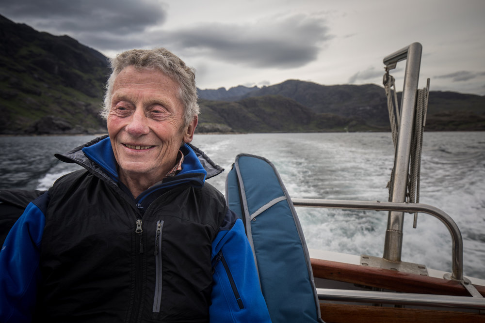 Spike played 'The Grand Old Masters' as the boat sailed on the Loch na Cuilce