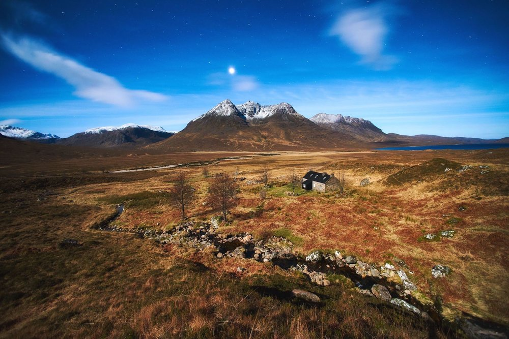 Image of Shenavall bothy, from 'The Place of the Gaels' . Photo by Hamish Frost for Coldhouse Collective