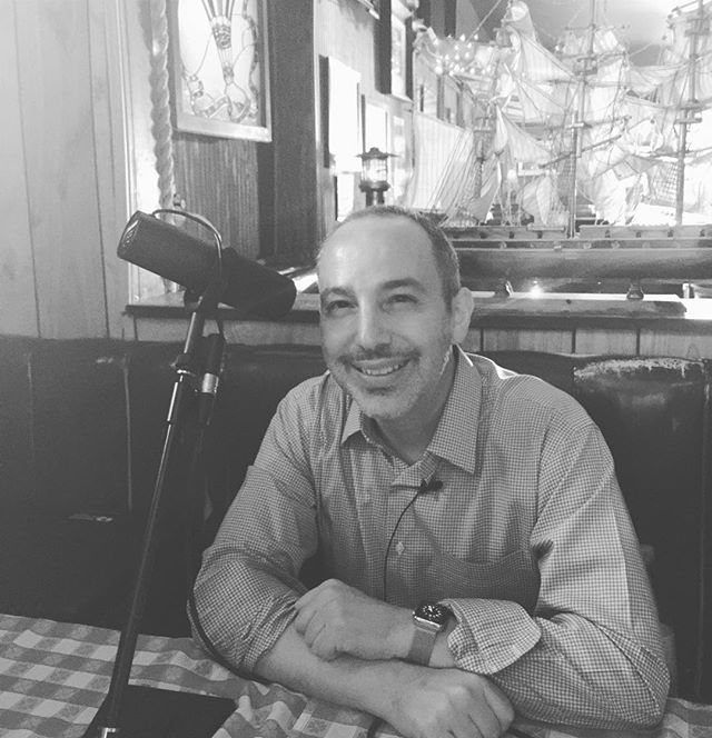 Andrew Blankstein on the mic over a beer at Chez Jay in Santa Monica. Tune in! #HowIGotHere #podcast #journalism #losangeles #LA #NBC #journalist #motivation