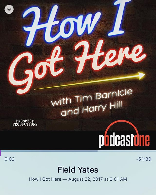 Start your week off right with Field Yates on @HowIGotHere. We talk Field's life in football, from the field, to the front office, to the sideline, to his current role covering the league for @espn