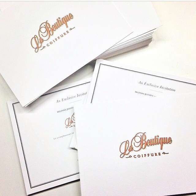 Exciting times ahead with the amazing @sweatybettypr #invitations #laboutiquehair #sweatybettypr 🙏💥