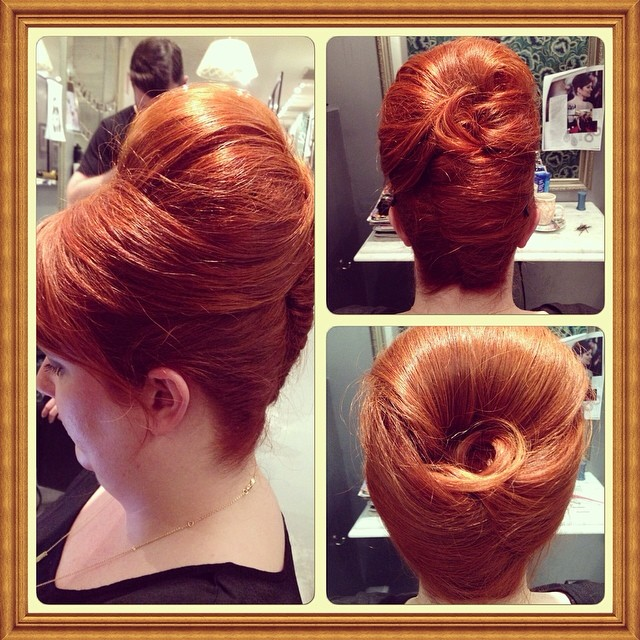 #Madmen eat your heart out!!! #laboutiquehair was rocking last night with #masterstylist #WendyDuval teaching us some of her many tricks she has learnt after 40 years in the biz working on the biggest films and advertising campaigns! Beyond inspiring! #beehives #rollerset #hairup #hairinspo #americanhustle #retrohair #veronicalake #frenchroll #pinup