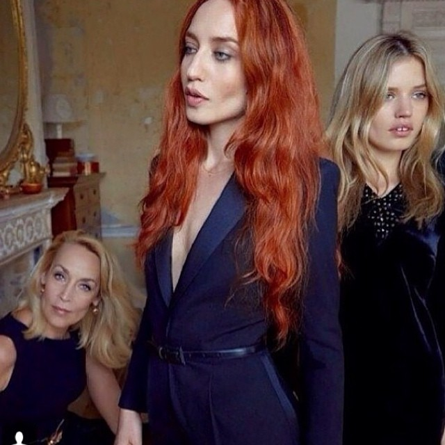 Check out the Jagger's 😍#Jerryhall 😍 #Elizabeth and 😍#Georgiamay's latest shoot for @vogueitalia …. Such a follically blessed family!!!!! We have complete #hairlust!!!! Especially #elizabethjagger 's new #copper tone 🔥🔥🔥🔥 Hotttt!!!