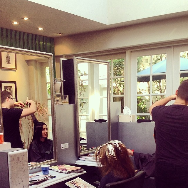 Our newest maestro Nathan doin his thing!! #laboutiquehair @laboutiquehair  (at La Boutique)