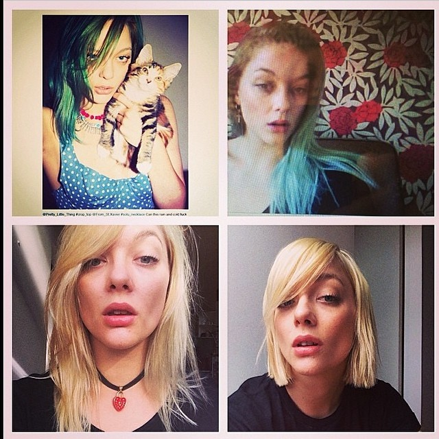 Our very own Sasha Pivovarova, Rebecca Victoria! What a hair journey! Green to blonde, long to short! Haircolour by Belinda, Dan  and Richard. Haircut by Tim. So LA ready! (at La Boutique)