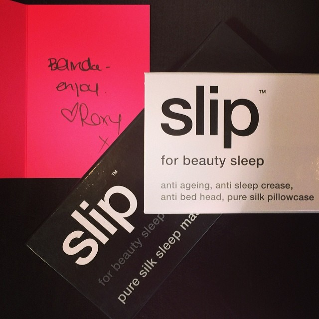 What's La Boutique's secret to keeping your hair perfectly coiffed? The luxurious silk pillowcase from Slip! Thanks Roxy at Sweaty Betty PR, you certainly know a good thing ;) PS your hair has never looked better! xx  (at La Boutique)